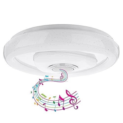 Luz De Techo Con Altavoz Bluetooth Lámpara De Techo De Música De Baño LED, Aplicación Y Control Remoto, 2021 Nueva Pantalla De Cielo Estrellado Para Dormitorio, Habitación Infantil, Sala De Es