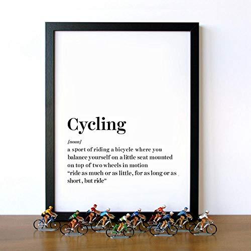 WADPJ Poster für Radsport, Wall Art, Kunstdrucke auf Leinwand, modern, Radsport, Sport, Leinwand, 50 x 70 cm, 1 Stück ohne Rahmen