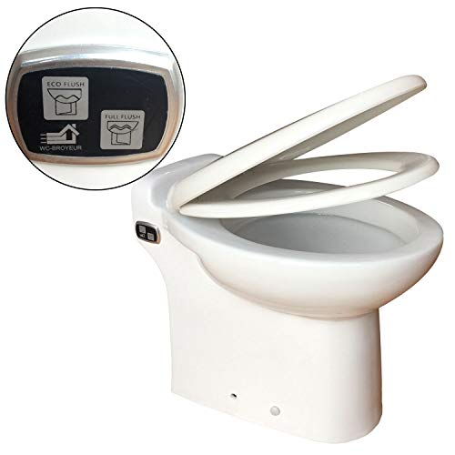 INTELFLO 600Watt Macerating Toilet with 4/5HP Macerator Pump Built Into the Base, One Piece Toilet...