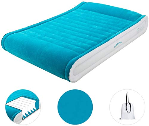 Homemust Leg Ramp Inflatable Leg Pillow Bed Wedge Cushion Oreiller with Quick Inflate//Deflate Valve and Soft Surface