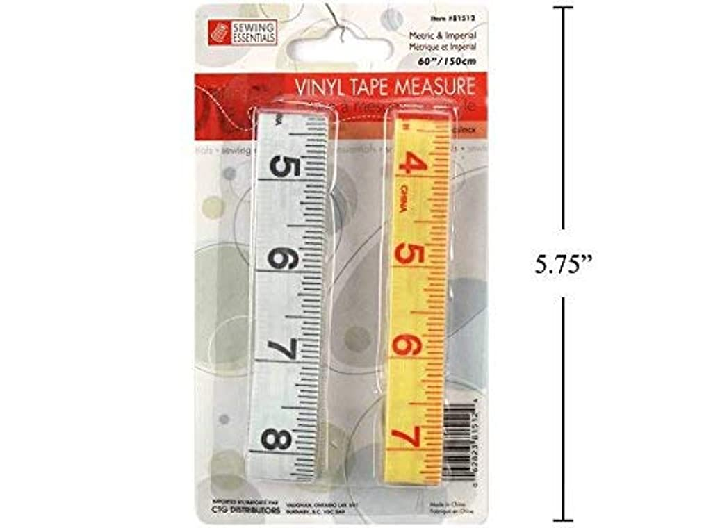 Vinyl Sewing Measuring Tape, 2 Pc - 60 Inch