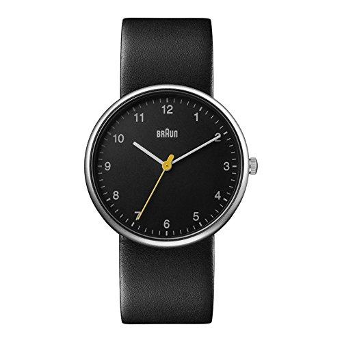 BRAUN Reloj Analógico para Hombre de Cuarzo con Correa en Cuero BN0231BKBKGAL