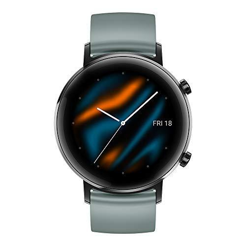 HUAWEI Watch GT 2 Smartwatch 42 mm, Durata Batteria fino a 1 Settimana, GPS, 15 Modalità di Allenamento, Monitoraggio Battito Cardiaco in Tempo Reale, Lake Cyan