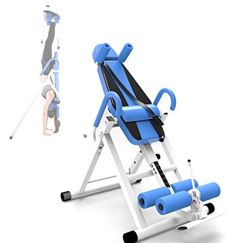 ORPERSIST Gravity Inversion Table Foldable Inverting Back Support Body Adjustable Height Back Pain Relief for Gym Home Workout Height Up To 2 Meters