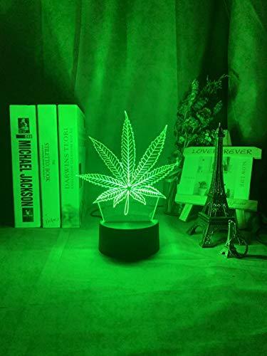 HSHHJSH Luz de Noche LED 3D - Lámpara de Mesa con Motor USB Cambiante de Color Cambio de Sensor Táctil Decoración para el hogar Luz Niños Dormitorio Noche (Color : 7 Colors no Remote)