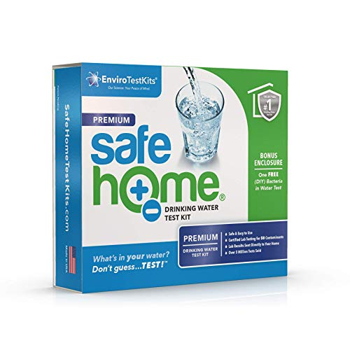 Safe Home PREMIUM Drinking Water Test Kit – Our #1 Selling Kit for Testing CITY WATER or WELL WATER – 50 Contaminants Tested at Our EPA Certified Laboratory – Don't Guess…TEST!