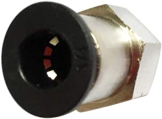 1//4 OD x 1//4 NPT Female Pack of 5 Plastic /& Nickel Plated Brass Push to Connect Straight Female Connector Fitting