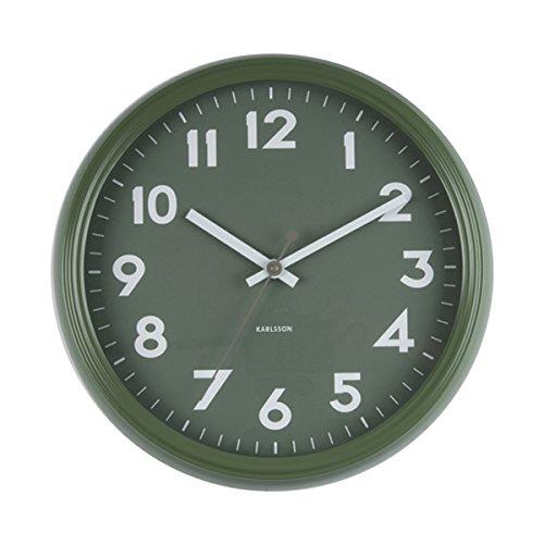 Karlsson badge klok, wandklok, ijzer, groen, één maat