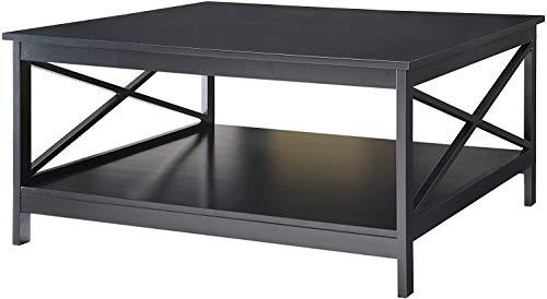 Convenience Concepts Oxford 36' Square Coffee Table, Black