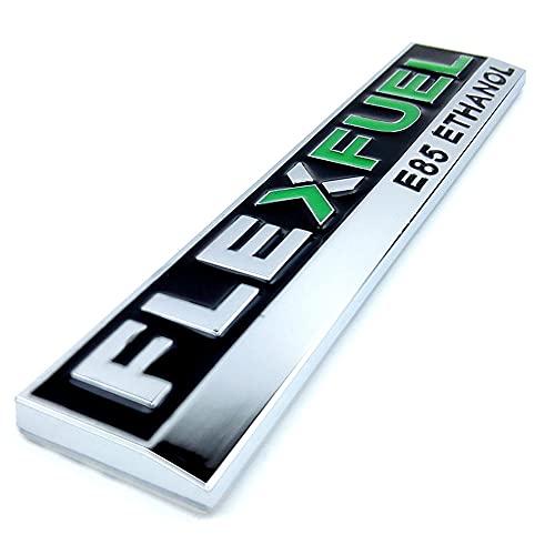 1PC Flex Fuel E85 Ethanol Car Sticker for Clean Energy Vehicle Metal Decal 3D Badge Emblem