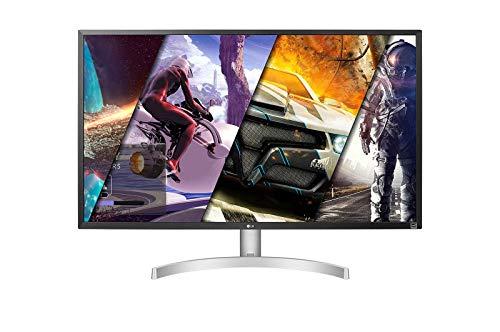 "LG 32UL500 Monitor 32"" UltraHD 4K LED VA HDR, 3840x2160, 4ms, 1 Miliardo di Colori, AMD FreeSync 60Hz, Audio Stereo 10W, HDMI 2.0 (HDCP 2.2), Display Port 1.2, Uscita Audio, Flicker Safe, Bianco"