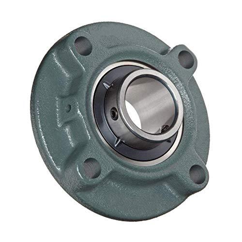 (Pack 2) DOJA Industrial | 2 Unidades de Rodamientos con Soporte UCFC 205 Cojinete de Bolas para Eje de (25mm Cojinetes con Soportes para: fresadora, Impresora 3D, Bricolaje.