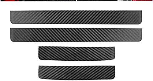 Tiras Protectoras Para El Umbral La Puerta Del Coche Placa ProteccióN Con Textura De Fibra Carbono Para El Coche Accesorios Moldura Para 2019 2020 Mazda CX-30 ProteccióN Contra RasguñOs