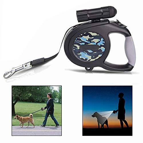 LHKJ Einziehbare Hundeleine mit LED,8m Rollleinen für Hunde bis Max.50 kg