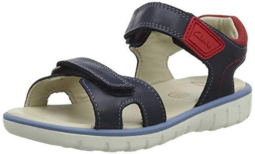 Clarks Roam Surf K Sandale, Navy Leather, 34 EU