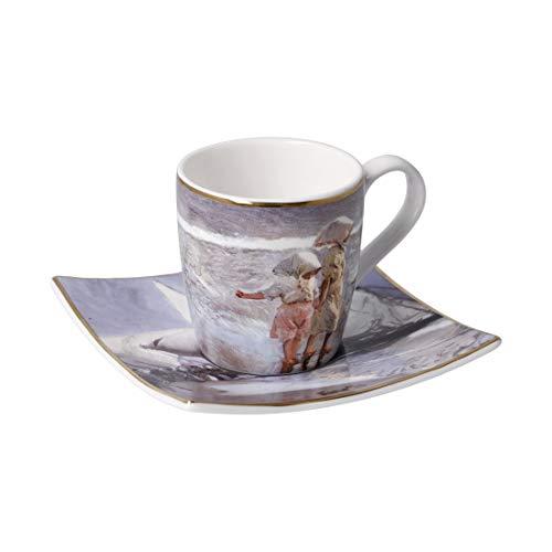 Taza de café expreso 'SISTERS ON THE BEACH' Joaquin Sorolla 100 ml, porcelana