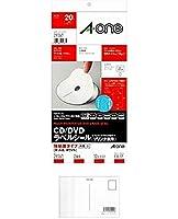 エーワン ラベルシール CD/DVDラベル 内径小タイプ A4 2面 10シート 29167 + 画材屋ドットコム ポストカードA