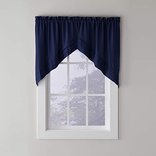 """SKL Home by Saturday Knight Ltd. Holden Swag Valance Pair, 57"""" x 30"""", Navy, 2 Count"""