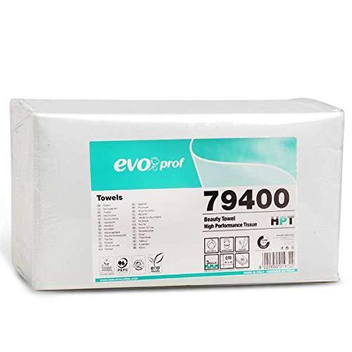 8 Serviettes jetables Celtex EVO Prof pour coiffeur esthéticienne - Très haute qualité, 66 g/m², 40 x 80 cm, 100 % pure cellulose dermatologiquement testée