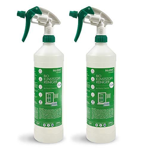 bio-chem Bio Kunststoffreiniger SPARPACK 2x 1000 ml GEL, PVC-Reiniger, Klebereste-Entferner, Nikotin-Entferner, Kraftreiniger für Kunststoff-Fenster, Fenster-Rahmen, Gartenmöbel, Balkonmöbel u.v.m.