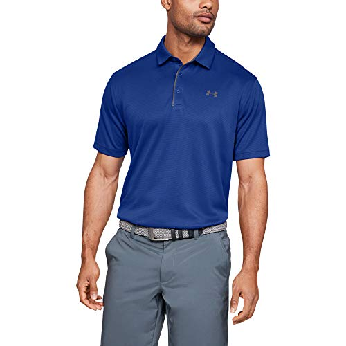 Under Armour Men's Tech Golf Polo , Royal Blue (400)/Graphite , X-Large