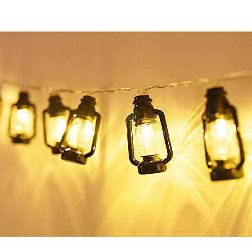 Zhiyi Retro Öllampe Lichterkette, Hohe Helligkeit, Sichere Und Dauerhafte Wärme, Zu Hause Drinnen Und Draußen, Urlaub Dekoration Plug-in Lichterketten 5 Meter