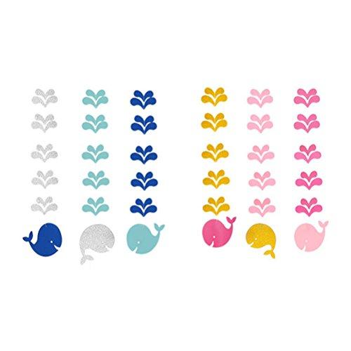 LUOEM 2 Sätze nautische Baby Dusche Dekorationen Wal hängende Ausschnitt für Baby Shower Geburtstag Party Decor (Pink und blau)