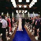 Coureur d'allée de Mariage 2FTx15FT Coureur d'allée de Paillettes Bleu Royal Great Gatsby décorations de fête Couloir Tapis Coureur de Mariage allée extérieure Plage décor Glitter allée Coureur