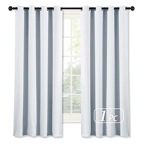 NICETOWN Outdoor Curtain for Patio Waterproof Extra Long W52 x L108, Rustproof Grommet Public Divider Blackout Thermal Insulated Outdoor Drape for Pergola/Porch, Tan, 1 Panel