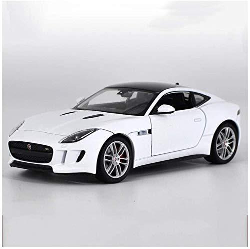 Zixin Uno y veinticuatro Jaguar F-Type Coupe Modelo Sports Car Model Coche de la aleación de neumático de Goma Modelo de Coche (Color: Blanco)