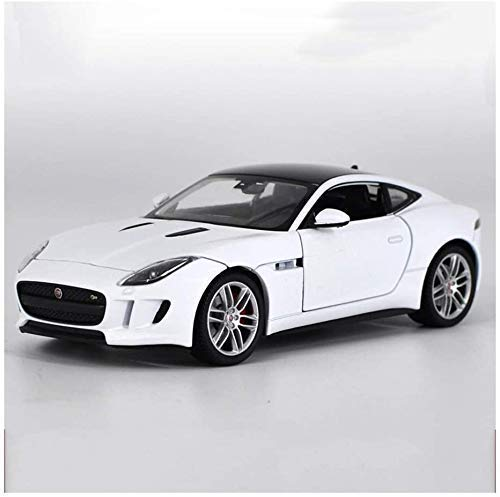 XIUYU 01.24 Jaguar F-Type Coupe Sport Auto-Modell-Legierung Auto-Modell Gummi Reifen-Auto-Modell (Farbe: weiß)