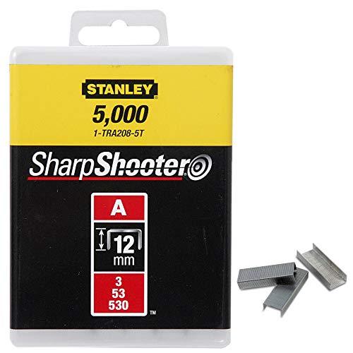Stanley Klammern Typ A (12 mm, Klammern aus Runddraht für Elektro- und Handtacker Typ A, 1000 Stück) 1-TRA208T