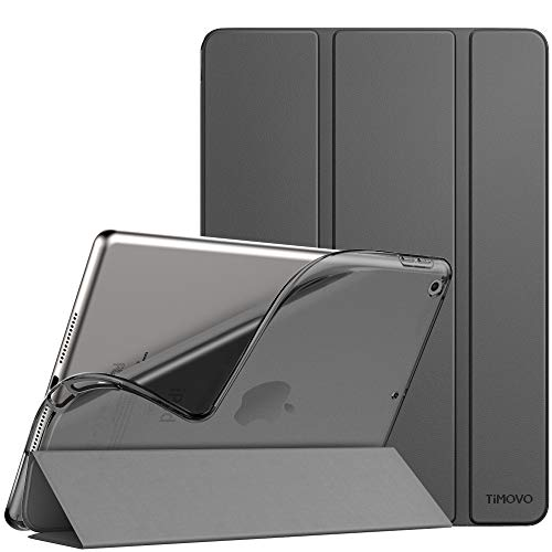 TiMOVO Case for New iPad 8th Generation 2020 / iPad 7th Generation 10.2' 2019, Slim TPU Translucent Frosted Back Protective Cover Shell with Auto Wake/Sleep, Cover Fit iPad 10.2-inch - Space Gray