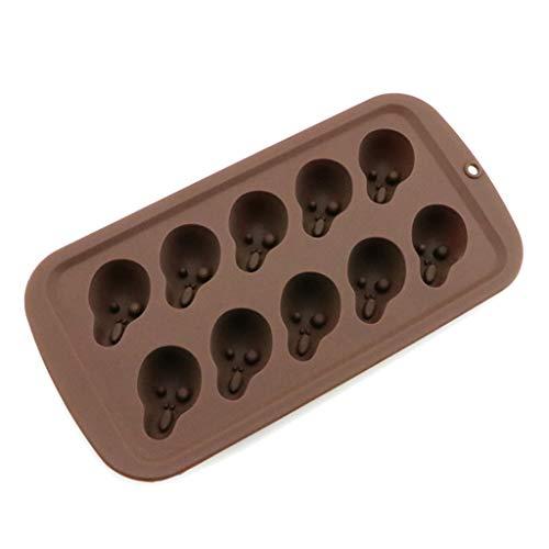 3D Crâne Au Chocolat Moule En Silicone Moule À Gâteau Bakeware Pâtisserie De Cuisson Décoration Outils Cuisine Halloween Cadeau