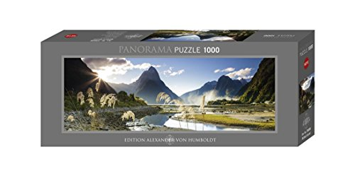 Heye Milford Sound, Panoramapuzzle 1000 Teile Puzzle, Grey