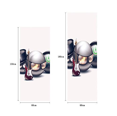Brille Ball Und GuitarFans Selbstklebende Spülmaschine Kühlschrank Einfrieren Aufkleber Kinderkunst Kühlschranktür Abdeckung Tapete 60 * 180 CM
