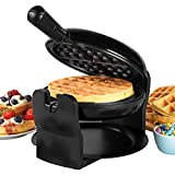 Progress® EK4376P Rotary Non-Stick Waffle Maker, 1000W, Removable Drip Tray, Rotating Function