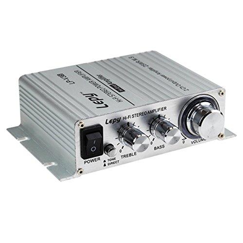 LEPY LP-V3S pequeño Amplificador HiFi para Coche, PC, Casa, Corriente DC 12V ⭐