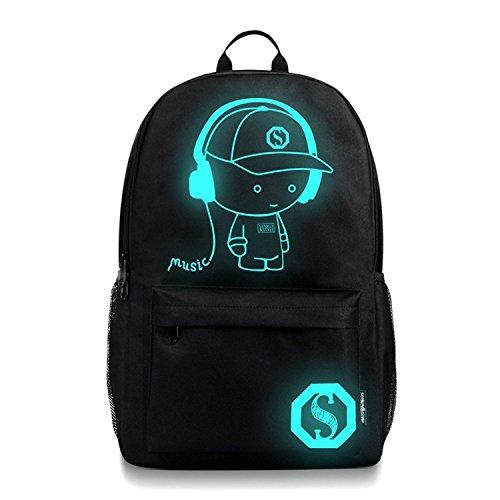 (イマジニング)Imagining バッグ 大容量 リュック 多機能 男の子 女の子 男女兼用 旅行 中学生 高校生 レディース メンズ リュックサック 発光 USB充電ポート バックパック ラップトップ収納可 カジュアル PCバッグ 可愛い 通勤 軽量 黒