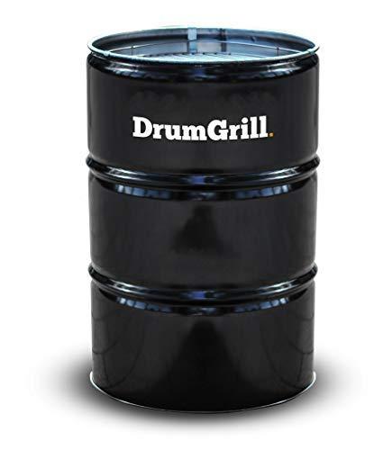 DrumGrill Big Mutlifunktional Stahl Öl Fass BBQ Holzkohle Grill, Feuerstelle, Gartenmöbel. Leichter Barbecue Grill für Picknicks, Camping, Garten- und Strandparties. Größe 57 x 57 x 87cm