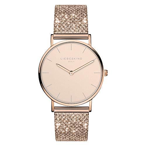 Liebeskind Berlin Damen Analog Quarz Uhr mit Edelstahl Armband LT-0219-MQ