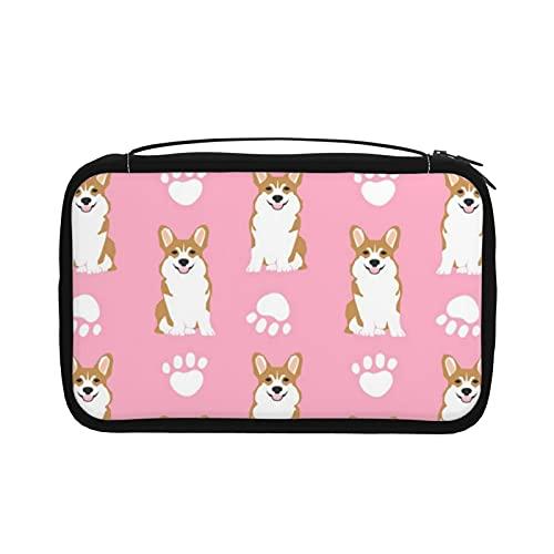 Transparente Kulturtasche Damen Reisetasche Kosmetiktasche mit Haken zum Aufhängen für Toilettenartikel Zubehör (süße Tiere Rettungshunde Hund)