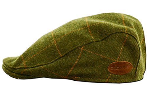 Classic Irish Tweed Cap. Traditional Irish Flat Cap from Donegal, Green, Large