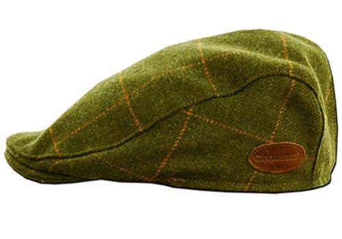 Classic Irish Tweed Cap. Traditional Irish Flat Cap from Donegal, Green, X-Large