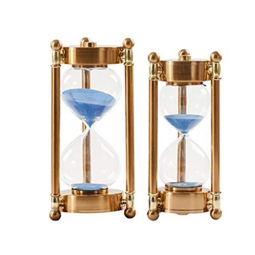 JINSUO NWXZU Sanduhr, Modern Hourglaßtimer Dekoration, Wohnzimmer Study Time Metall Creativ Sanduhr Modell Raumdekoration Schönes Geschenk (Color : Gold, Size : 10.5 * 10.5 * 26cm)