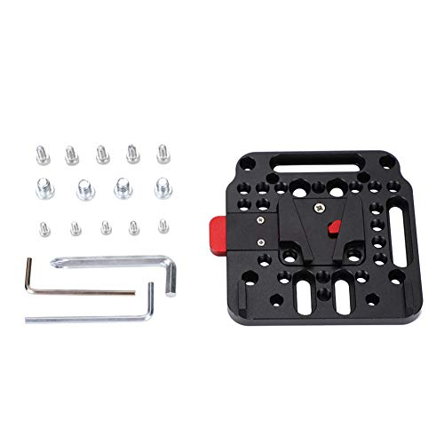 Quick Release External Battery Plate Camera Accessory for Battery with V-Mount Tosuny V Lock Mounting Plate Assembly Kit