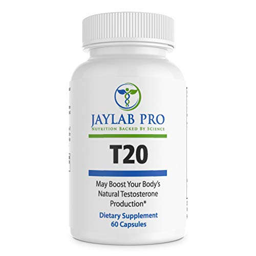 Jaylab Pro T20 Test Booster Supplement – Natural Herbal Pills – Boost Lean Muscle Development – TestBoost-Boost Free Testosterone and Enhance ATP Levels to Improve Performance