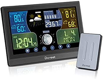 Doveet Wireless Digital Weather Station with Color Display