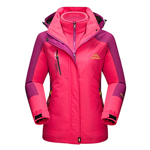 MAGCOMSEN Women's Ski Jacket Snow Jacket Fleece Jacket Warm Raincoats Waterproof Jacket Winter Jacket