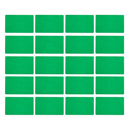 Tarjeta de Visita de aleación de Aluminio de 50 Piezas Tarjetas de Visita en Blanco de Color Grabado Tarjetas de Visita de Accesorios de Negocios(#1)